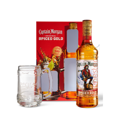 Captain Morgan Spiced Gold Rum 35% 0,7l + korsó