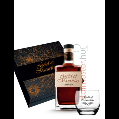 Gold of Mauritius Dark rum 40% 0,7l pohárral, díszdobozban