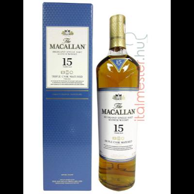 Macallan 15 éves Triple Cask 43% 0,7l