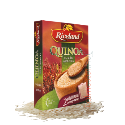 Riceland Quinoa rizs 2*125g főzőtasakos